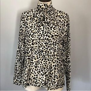Leopard Equipment Button Down Top